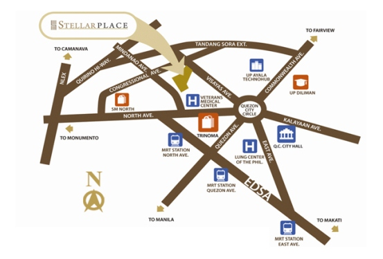 Stellar Place Location Map